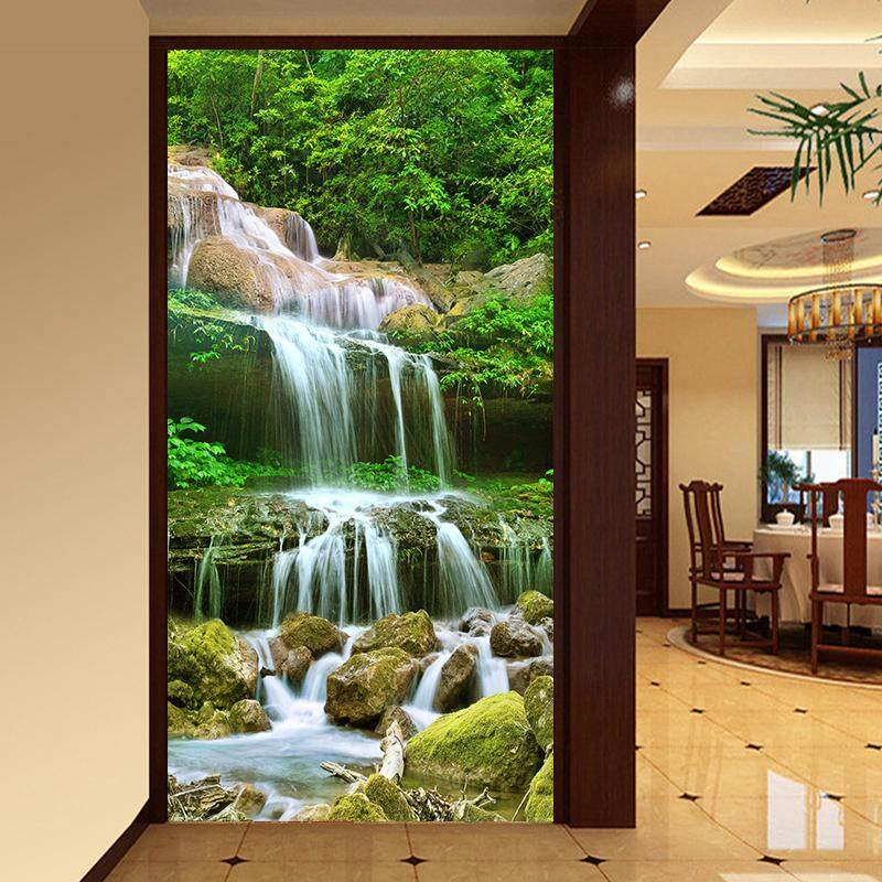 140cmx70cm3D Photo Wallpaper Waterfall Nature Landscape Large Murals Entrance Living Room Background Wall Mural Wall Paper Embossed