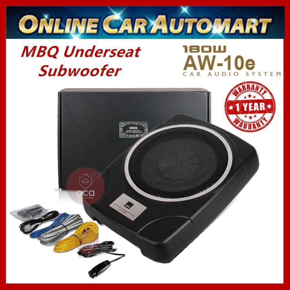 Mbq Car Underseat 10 Subwoofer Built-In Power Amplifier By Top Audio Accessories.
