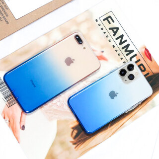 [Có Sẵn & Giao Hàng Nhanh] Dành Cho iPhone 12 Pro 11 Pro Max XS XR X 8 7 Plus SE 2020 Ốp Lưng Silicon Mềm Trong Suốt Ốp Lưng Điện Thoại Trong Suốt Chuyển Sắc Sang Trọng thumbnail
