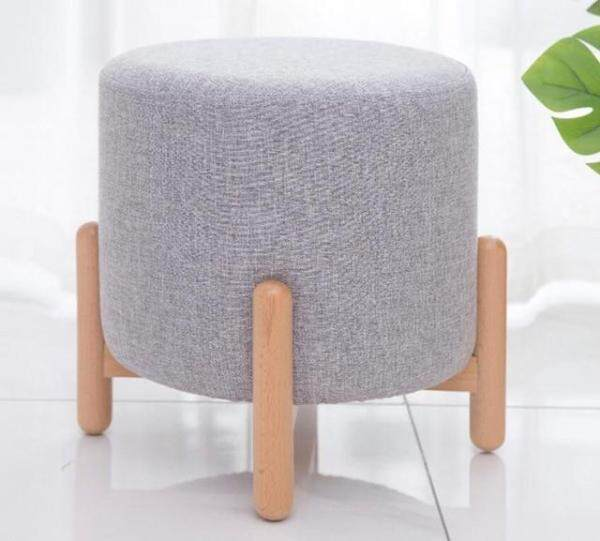 Modern Round Stools Upholstered Footstool пуфик pouf for Living Rome Sofa Fabric Ottomans Chairs taburete