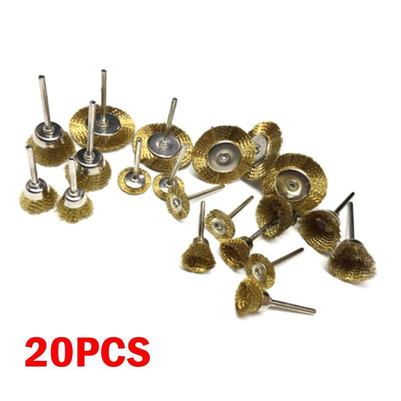 3pare Copper Wheel Brushes Parts Derusting Polishing Paint removal Cleaning Wire 20 pcs/Set