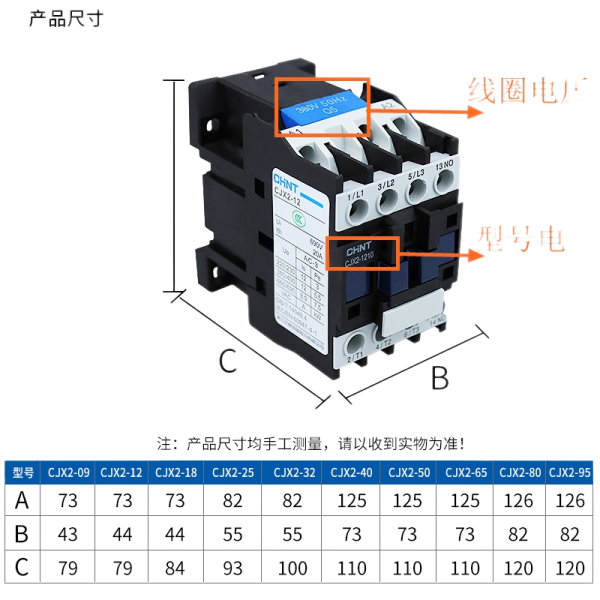 The New Chint ac contactor CJX2 32, 4011-0910 1210 1810 2510 5011 65 9511