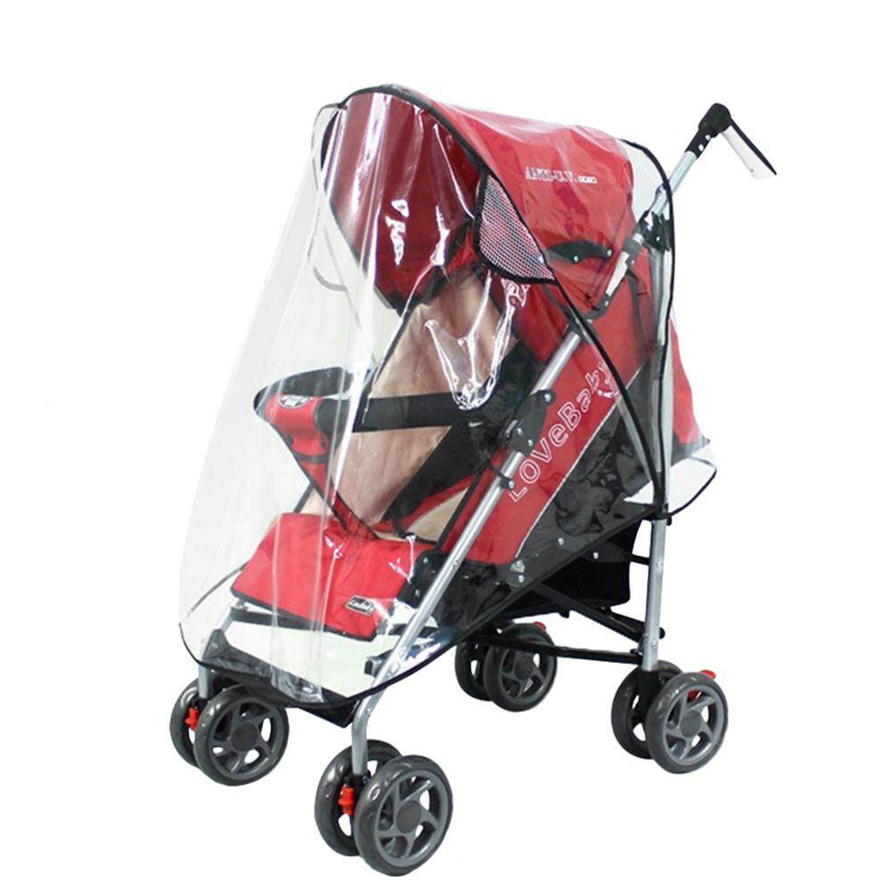 SilyNew PVC Waterproof Clear Baby Stroller Rain Cover Dust Wind Shield Transparent Rainproof Cover Sun Shade for Baby Stroller Carrier