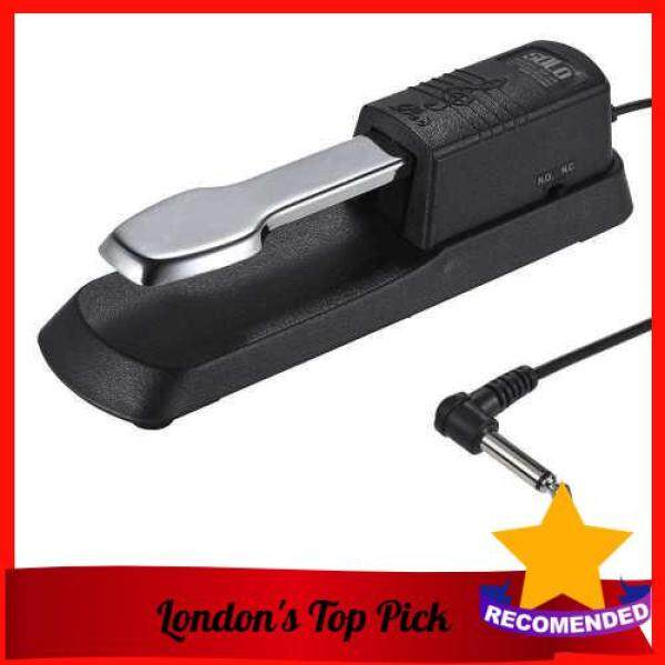 [ London ] Universal Piano Sustain Pedal Keyboard Foot Damper Pedal with 6.35mm Plug for Casio Yamaha Roland Electronic Organ MIDI Keyboards Digital Pianos (Black) Malaysia