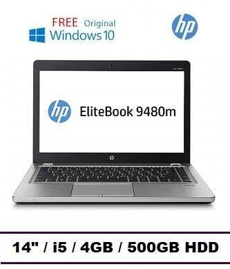HP EliteBook Folio 9480m UltraSlim Laptop (Intel Core i5-4th Gen / 4GB RAM / 500GB HDD / 14.0 inch HD) Malaysia