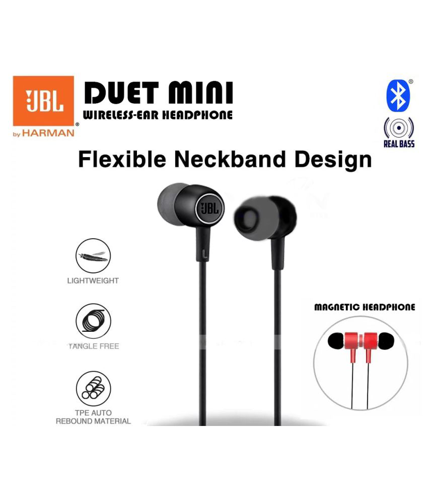 JBL Duet Mini Bluetooth Headphones Wireless In Ear Mic Black