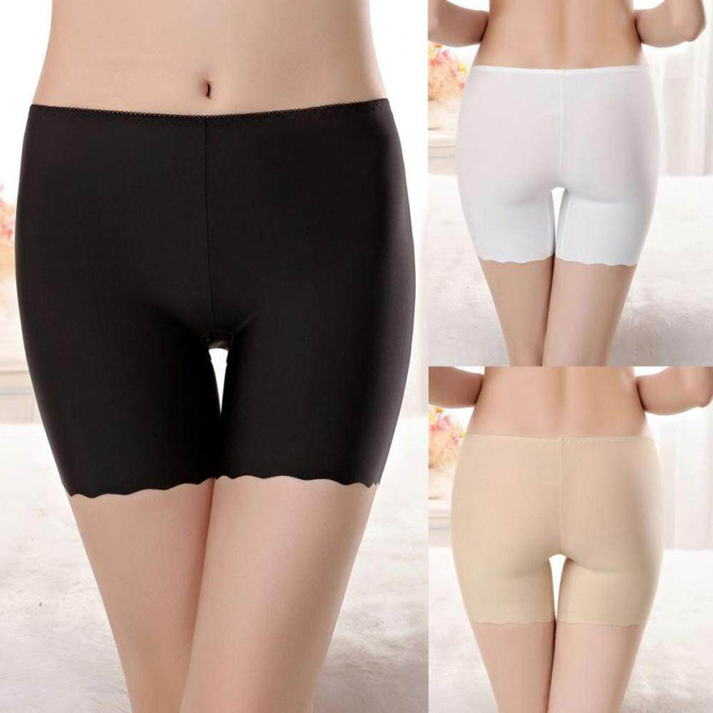 57b21fa23 Safety Lady Short Pants Seamless Safety Short Skirts Leggings Silk  Breathable Underwear Comfortable Stretch Ultra Soft
