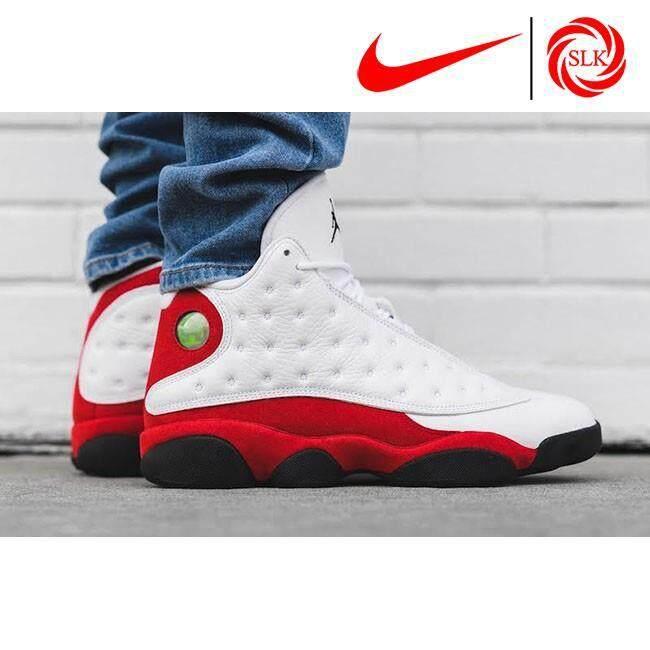 SLK★ Nike Air Jordan 13 OG 'Chicago 2017' White and -Team Red Basketball shoes