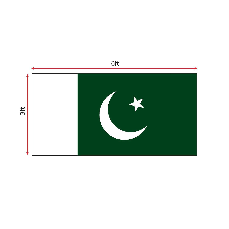 Pakistan Flag 3x6ft, Bendera Pakistan 3x6ft, Polyester