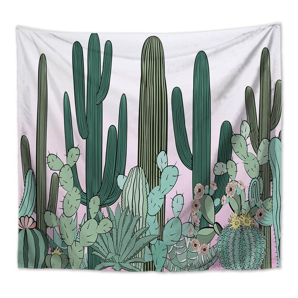 GoodGreat Fashion Wall Tapestry Cactus Style Pattern Printed Decorative Tapestry Beach Towel Bedspread Throw Cover Hanging Home Decor