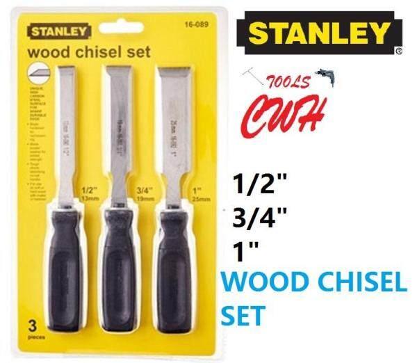 1/2  3/4  1  3PCS STANLEY 150 SERIES WOOD CHISEL SET FLAT 16-089 16089