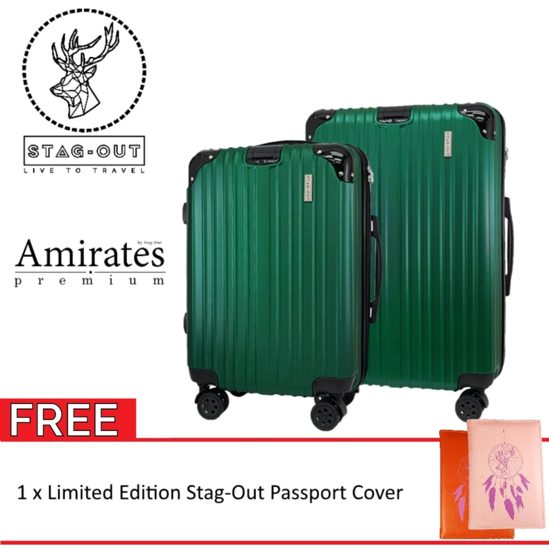 f09a4056ceca [Stag-Out] Amirates Premium 2in1 Protector ABS Hardcase Travel Luggage Set  Bag Suitcase