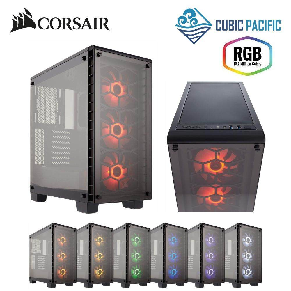 CORSAIR Crystal Series 460X RGB Tempered Glass, Compact ATX Mid-Tower Case - CC-9011101-WW Malaysia