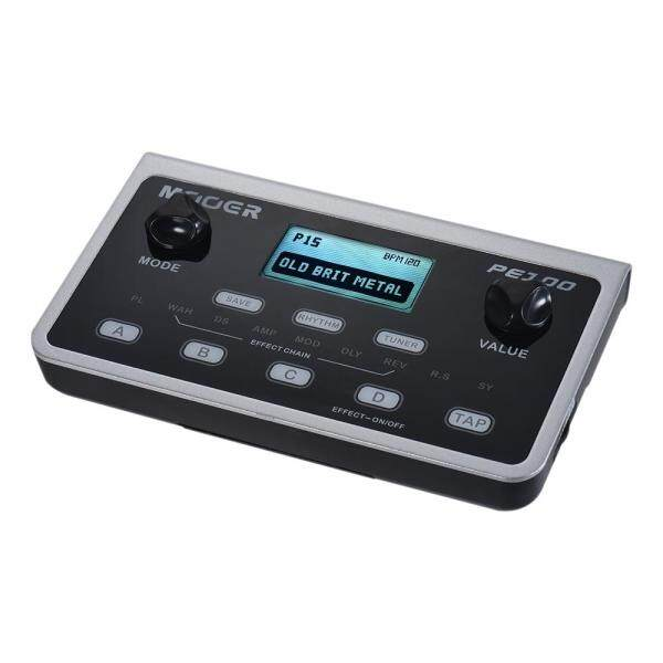 MOOER PE100 Portable Multi-effects Processor Guitar Effect Pedal 39 Effects 40 Drum Patterns 10 Metronomes Tap Tempo