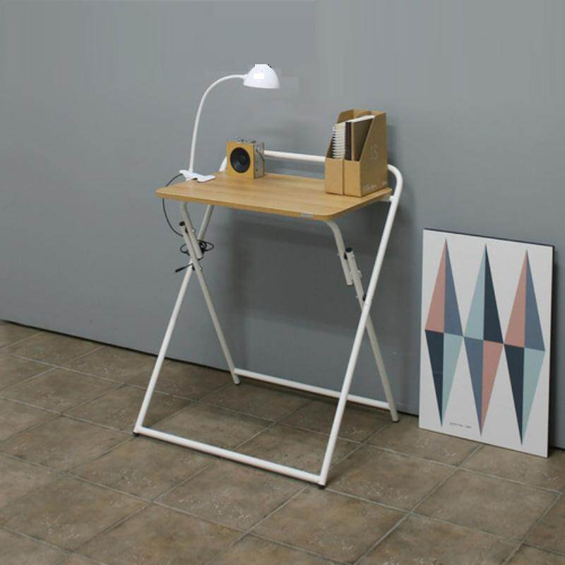 Folding Computer Desk, Small Writing Table for Home Office/Teens Student Space Saving Mobile Workstation