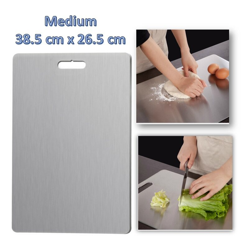 304 Stainless Steel Cutting Boards For Kitchen Heavy Duty Chopping Board Butcher Block Board For Meat Kitchen Lazada