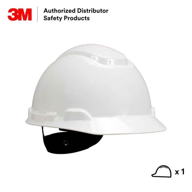 3M H-701R White Hard Hat 4 Point Ratchet