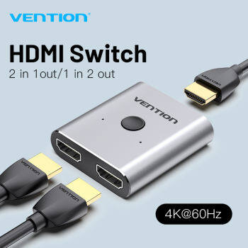 Vention HDMI 2.0 4K Switch Bi-Direction bộ chia HDMI 1x2/2x1 Adapter 2 in 1 out Converter hdmi port hub hdmi spliter for PS4 Pro/4/3 HUB chuyển đổi HDMI