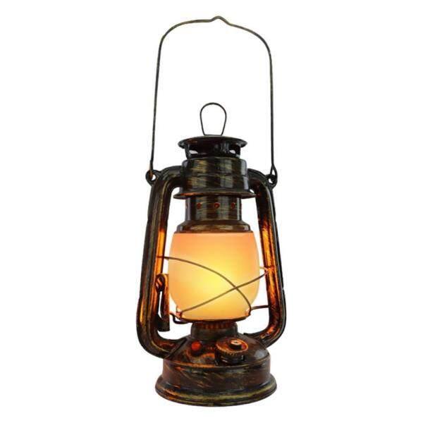 Vintage Hurricane Lantern Retro Metal Hanging Lantern with Dimmer Switch Rechargeable LED Lantern