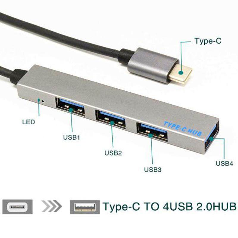 4 In 1 USB 3.1Type-C To HUB For Macbook Pro Mobile Phone Laptop