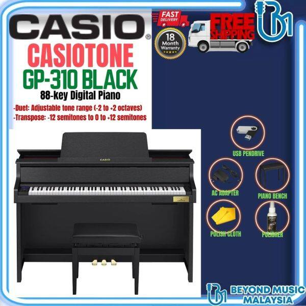 Casio GP-310 Grand Hybrid Piano with FREE Piano Bench - Black Finish (GP310 / GP310BK) Malaysia