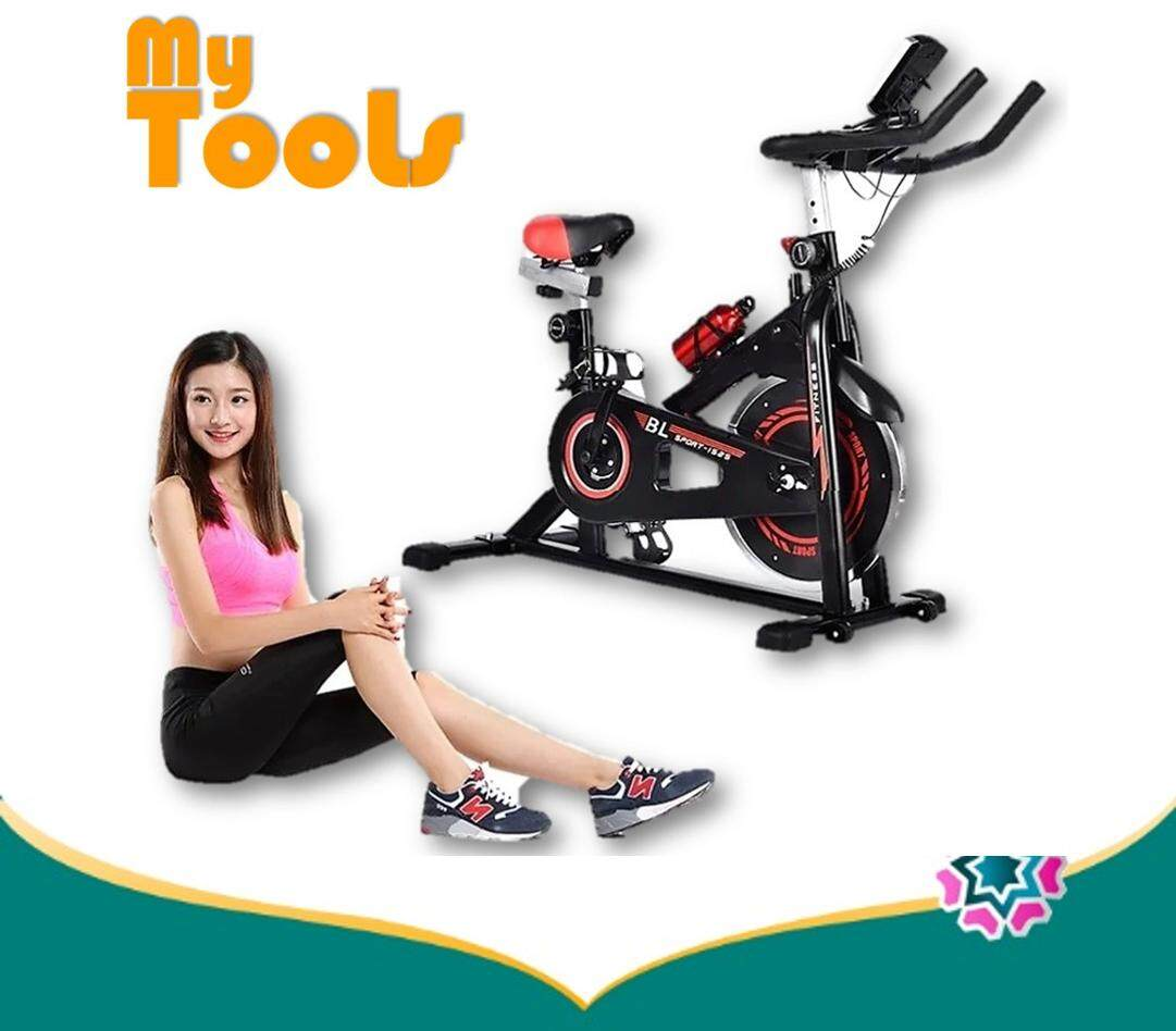 Bl Bl Dynamic Wheel Bicycle Spring Exercise Bike For Indoor Cycle Trainer & Gym Workout Fitness With Multifunction Display-Black By Mytools Marketing.