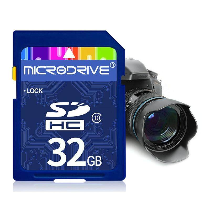 Mircodrive 32GB High Speed Class 10 SD Memory Card for All Digital Devices with SD Card Slot