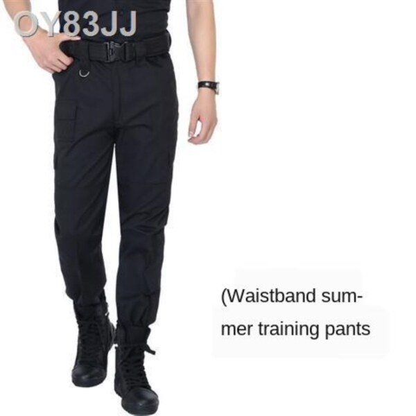 Spot▦☁✻ Black combat pants summer security pants mens wear the spring and autumn security uniforms uniform pants pants tactical pants operations