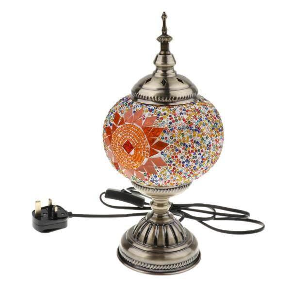 Perfk Handmade Turkish Moroccan Mosaic Style Table Desk Bedside Lamp UK Plug