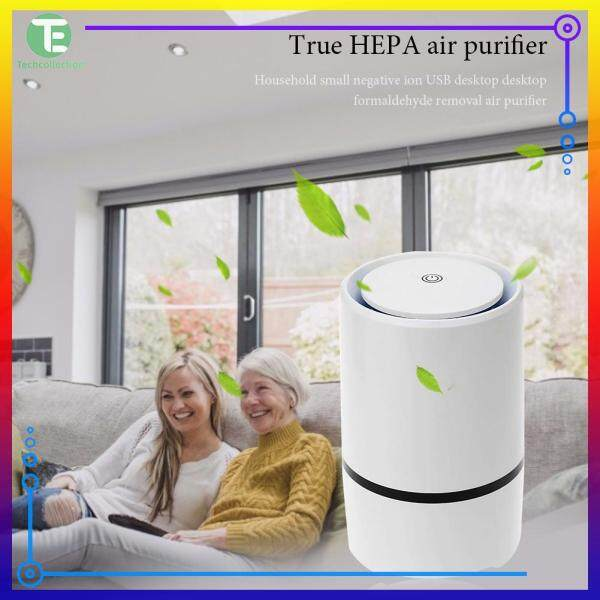 【Techcollection】Home Desktop Negative Ion Air Fresh Cleaner Portable Ultra Silent USB Powered Air Purifier Singapore