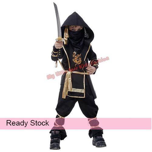 Child Warrior Ninjas Ninja Assassin Suit Kids Halloween Costume (4-6 years) toys for boys