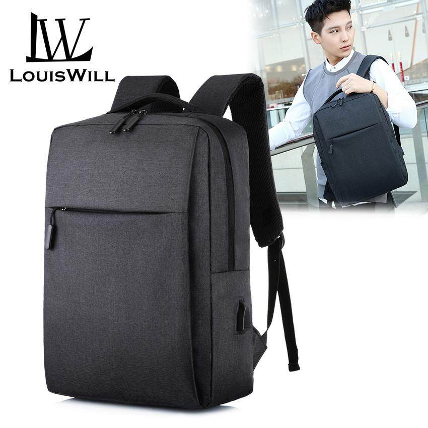 33ec8023c5d6 LouisWill Laptop Backpacks Wear-resistant Shoulder Backpack Oxford  Waterproof Computer Bag Backpack with USB Charging