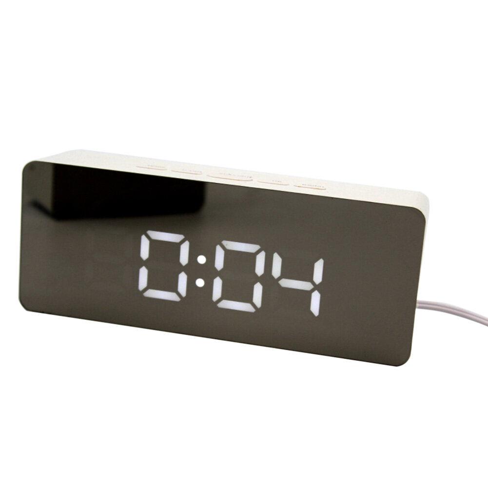 Nơi bán Tupac 12 H/24 H Sạc USB Đèn LED Hiển Thị Kỹ Thuật Số Gương Nhiệt Kế Báo Lại Đồng Hồ Báo Thức