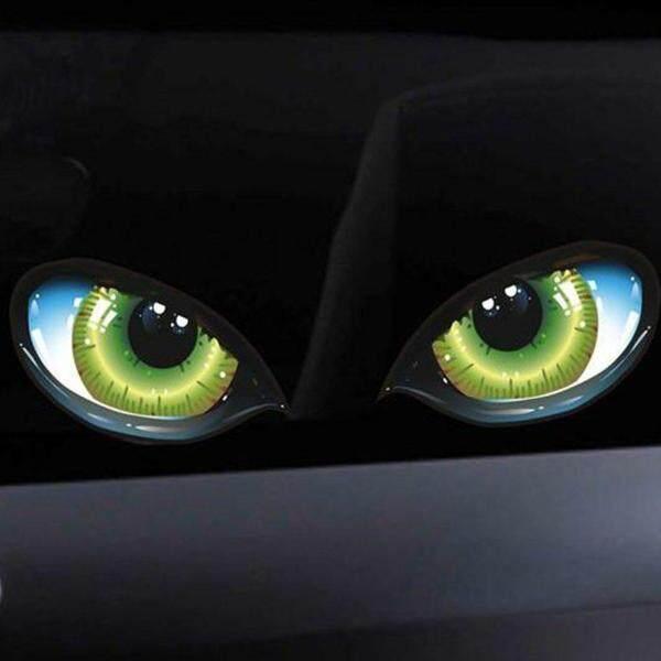 OSMAN nhãn dán xe hơi 3D hình mắt mèo chống thấm nước chống mờ tự kết dính - INTL