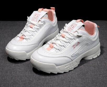 FILA Wanita Sepatu Kasual Wanita Musim Semi 2019 light Sepatu Musim Gugur  Wanita Sneakers Sepatu Datar 4d024319bb