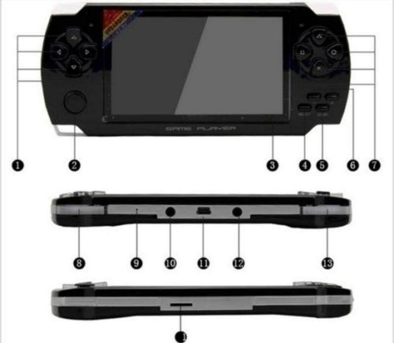 Máy Chơi Game Cầm Tay Với 4.3 Inch Trò Chơi Màn Hình HD 32bit Máy Chơi Game Di Động Suport PS1 GBA Sao Chép Tập Tin Trò Chơi Với RAM 8GB