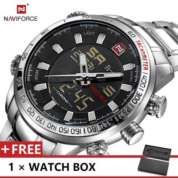 NAVIFORCE 9093 Top Luxury Brand Watch For Man Fashion Sports Men Quartz Watches Trend Wristwatch Gift For Male jam tangan lelaki Malaysia