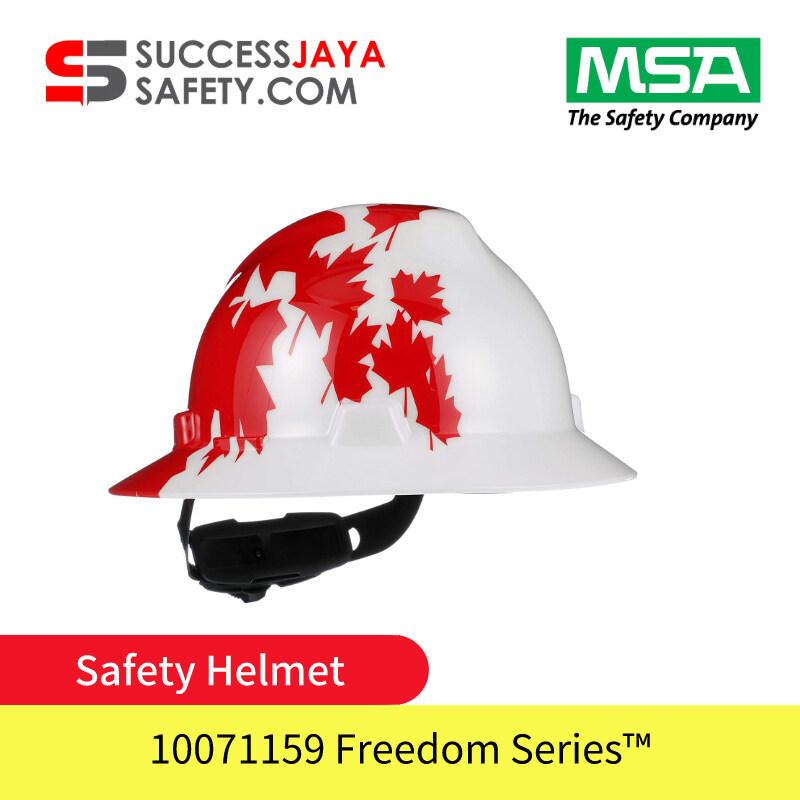 MSA 10082234 Maple Leaf Hat V-Gard® Polyethylene Cap Style Hard Hat With Fas Trac® 4 Point Ratchet Suspension