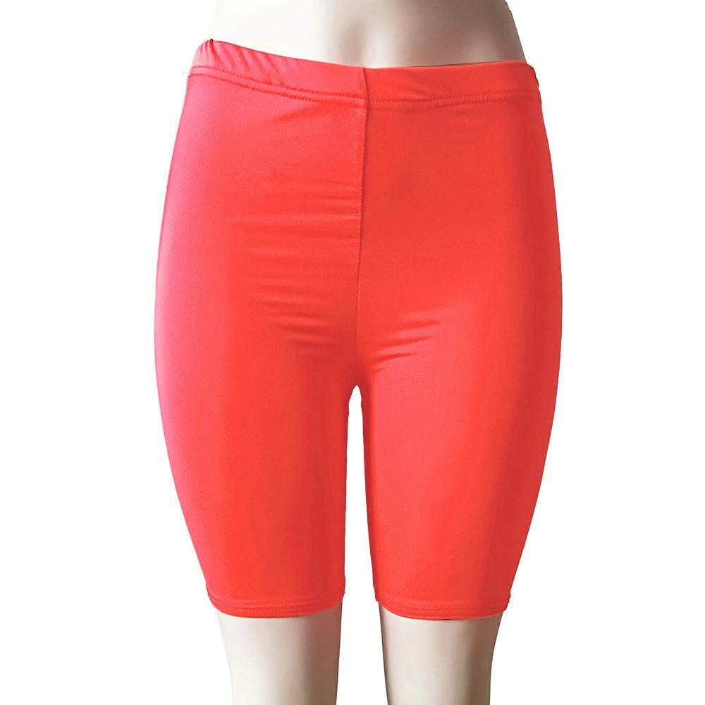 14f7026cbaaea Women Fashion Solid High Elasticity Leggings Gym Active Pants Cycling Shorts