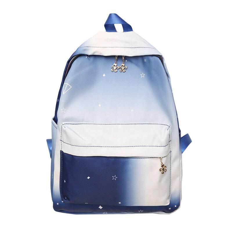 Large Capacity Teens Backpack for School Girls Gradient Painting Schoolbag Causal Travel Daypack