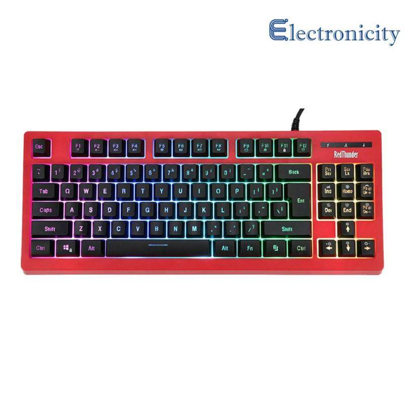Mechanical Feel Wired Keyboard 87 Keys RGB Backlit Gaming Keyboard for PC Gamer Computer Accessories Singapore