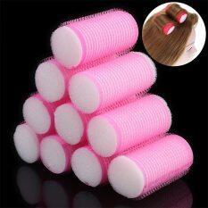 Bộ 10 cái lô cuốn tóc bằng nhựa, đường kính 3cm dùng để tự làm xoăn tóc tại nhà – INTL