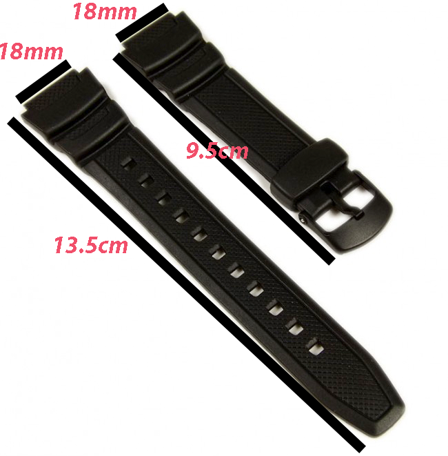 Watchband Silicone Rubber Band Men Sports Diving Black Strap For Casio Replace Electronic Wristwatch 100m Malaysia