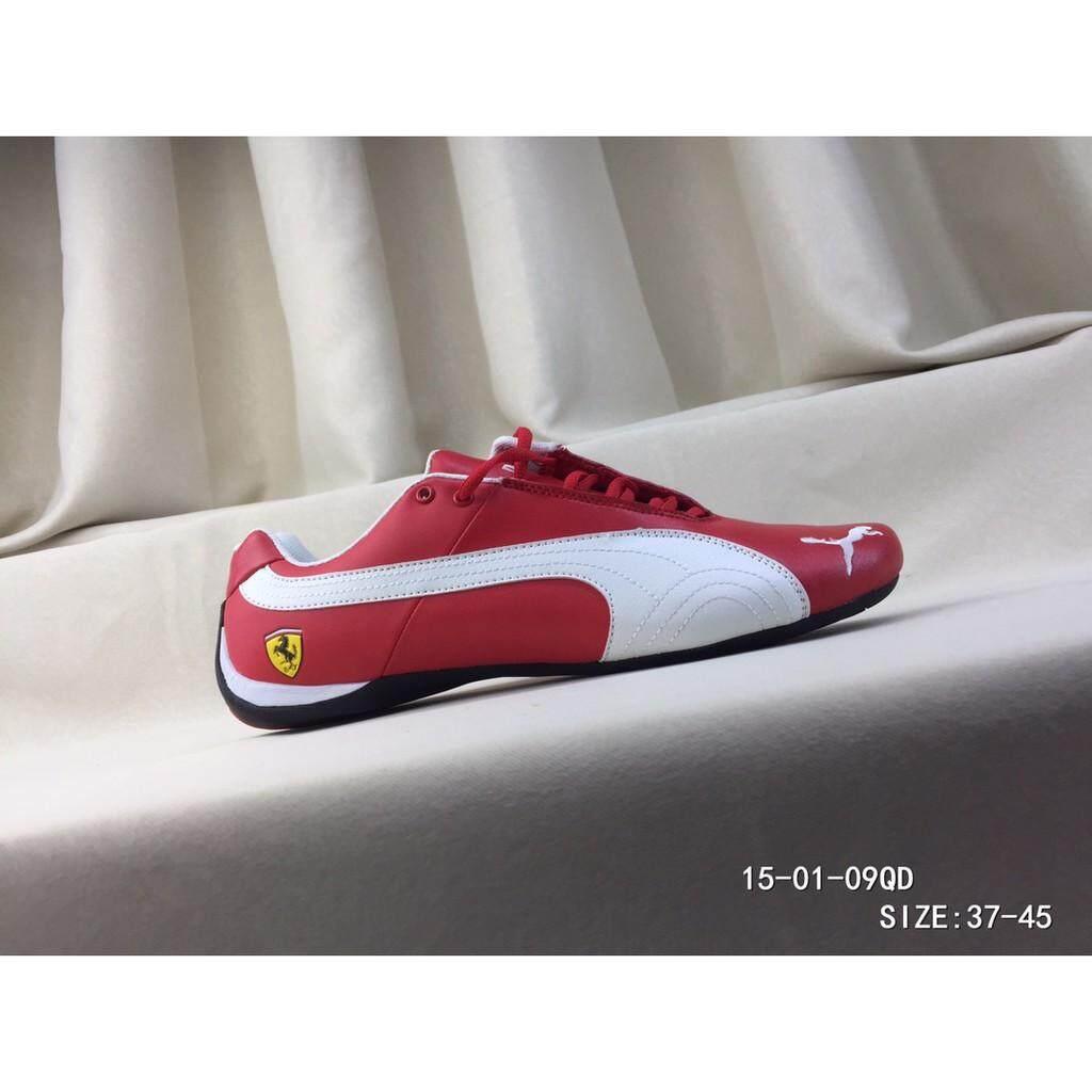 SLK ★ PUMA Men's Ferrari Motorsport Lightweight Comfortable Sports Shoes Red White