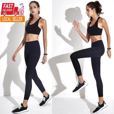2pcs Women Yoga Sets Fitness Running Shirt+pants Workout Clothing Gym Running Girls Sexy Slim Yoga Leggings Sport Tennis Suit Superior Materials Home