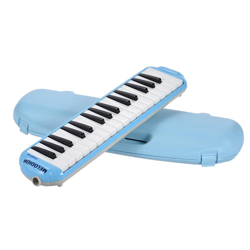 SUZUKI STUDY-32 32-Key Melodion Melodica Pianica Musical Education Instrument with Long & Short Mouthpiece Hard Case for Students Kids Children