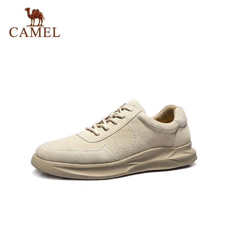 CAMEL Giày Sneaker Nam Da Lộn Cao Cấp Thiết Kế Đơn Giản Thoáng Khí A912541040