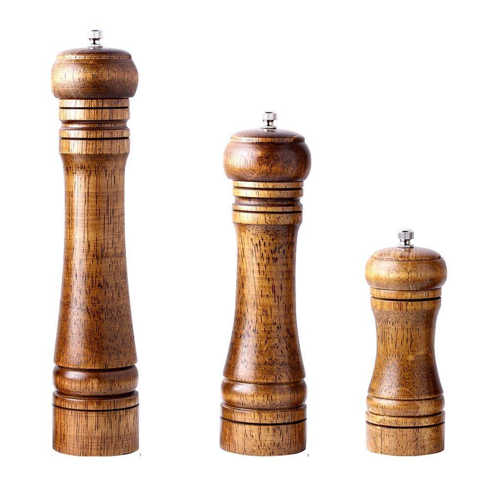 3pc Ceramic Salt And Pepper Mill Manual Solid Wood Pepper Mill With Strong Adjustable Ceramic Grinder 5 Inch 8 Inch 10 Inch Kitchen By Dragonlee.