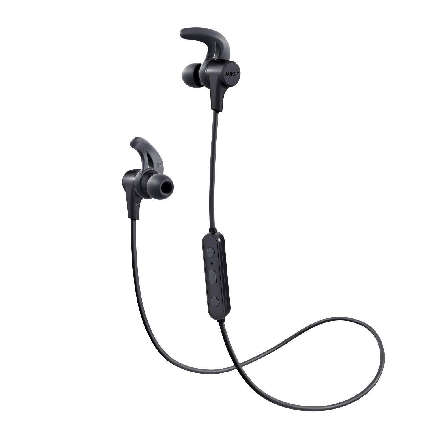 6b7652413ef AUKEY B40S Wireless Earbuds Bluetooth Headphones with Enhanced Bass  Sweat-Resistant 8-Hour Battery
