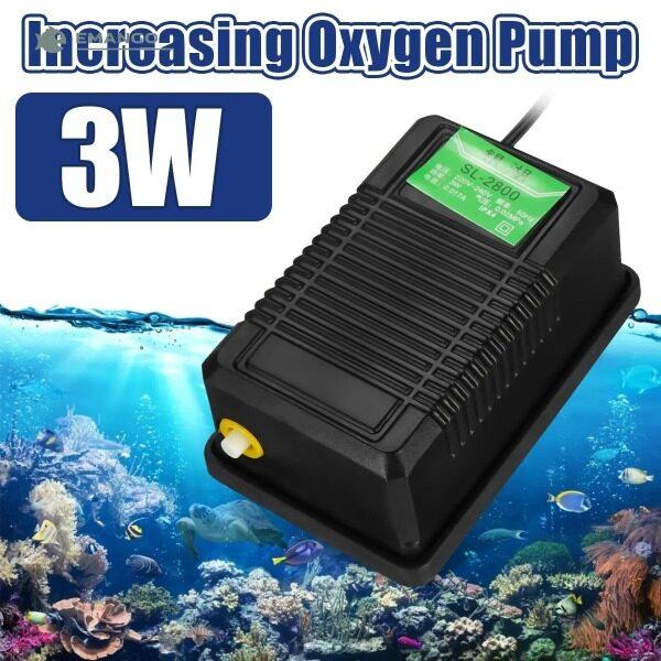 Emango Máy Bơm Sục Khí Hai Lỗ Cho Bể Cá Máy Bơm Không Khí Hiệu Quả Tiếng Ồn Thấp Cho Máy Bơm Oxy Phụ Kiện Bể Cá Tăng Oxy 3W 5W